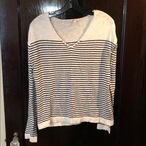 Navy striped light Gap sweater, size Small
